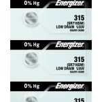 Photo of Energizer 315 Silver Oxide Button Cell, 5pc