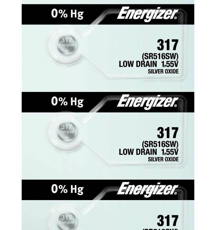 Photo of Energizer 317 Silver Oxide Button Cell, 5pc