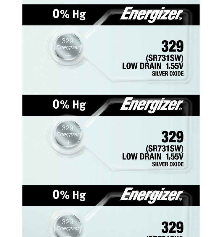 Photo of Energizer 329 Silver Oxide Button Cell, 5pc