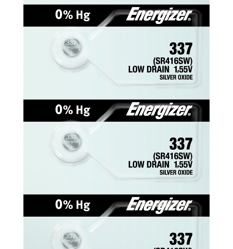 Photo of Energizer 337 Silver Oxide Button Cell, 5pc