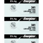Photo of Energizer 341 Silver Oxide Button Cell, 5pc
