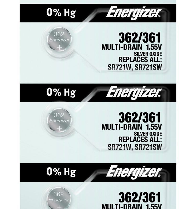 Photo of Energizer 362-361 Silver Oxide Button Cell, 5pc
