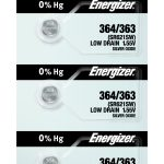 Photo of Energizer 364-363 Silver Oxide Button Cell, 5pc