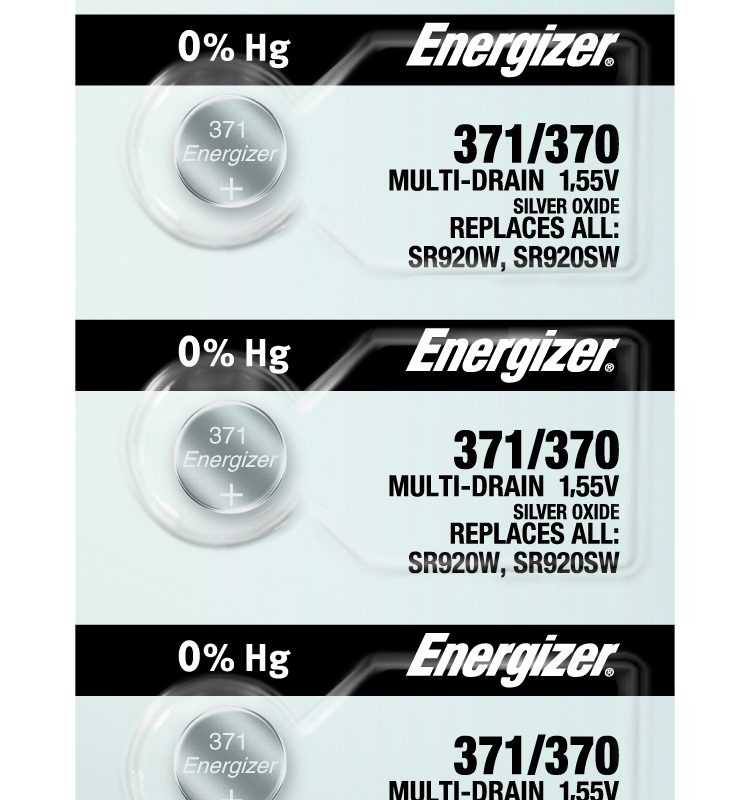 Photo of Energizer 371-370 Silver Oxide Button Cell, 5pc