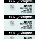 Photo of Energizer 377-376 Silver Oxide Button Cell, 5pc