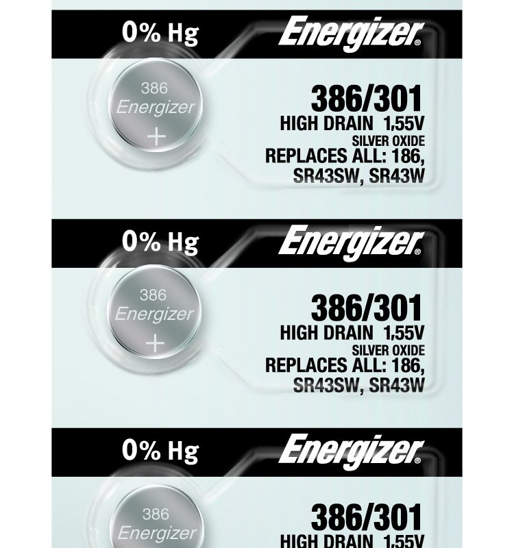 Photo of Energizer 386-301 Silver Oxide Button Cell, 5pc