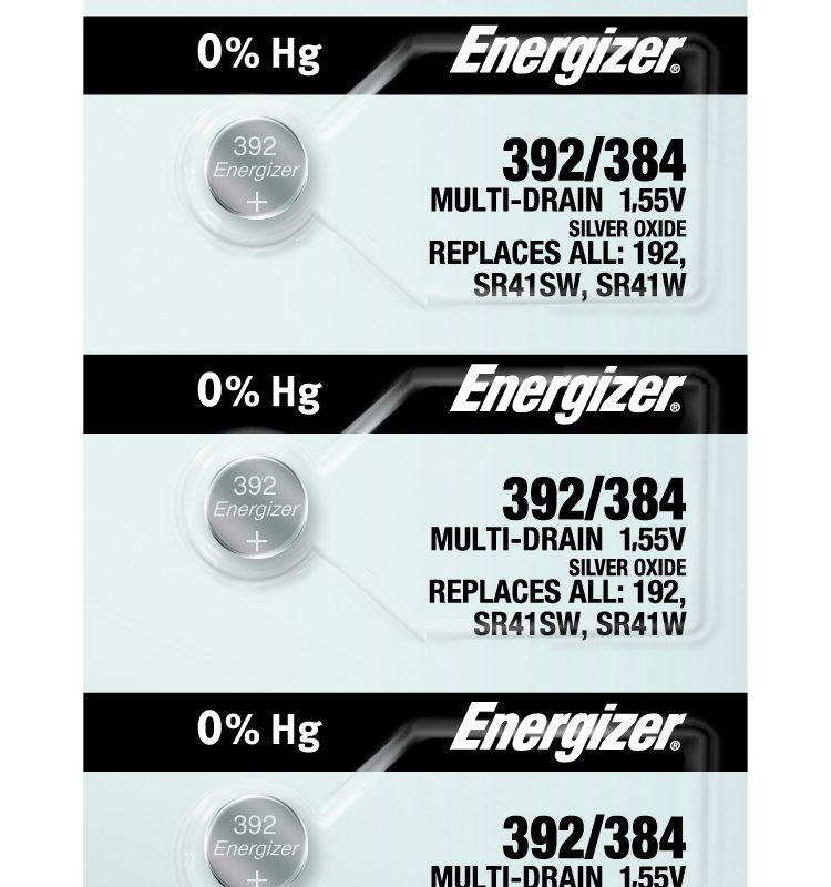 Photo of Energizer 392-384 Silver Oxide Button Cell, 5pc