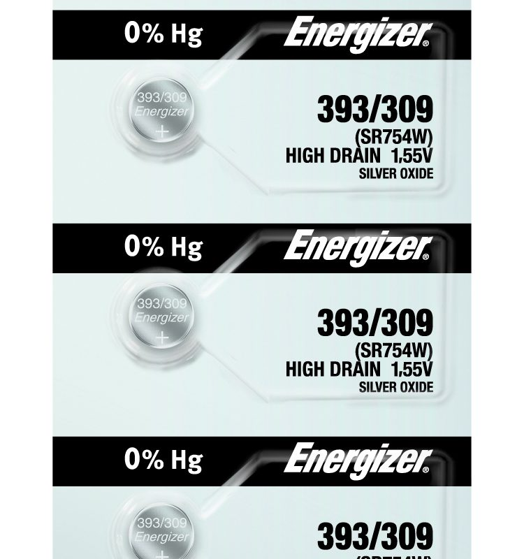 Photo of Energizer 393-309 Silver Oxide Button Cell, 5pc