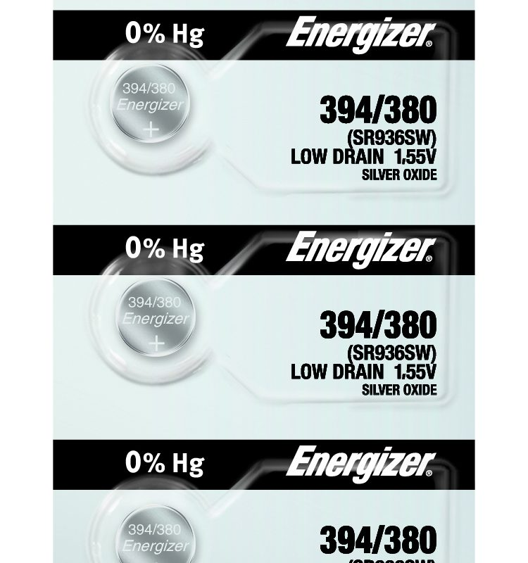 Photo of Energizer 394-380 Silver Oxide Button Cell, 5pc
