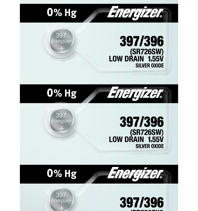 Photo of Energizer 397-396 Silver Oxide Button Cell, 5pc