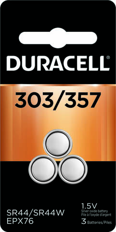 Photo of Duracell 303/357 Silver Oxide Button Cell, 3pk