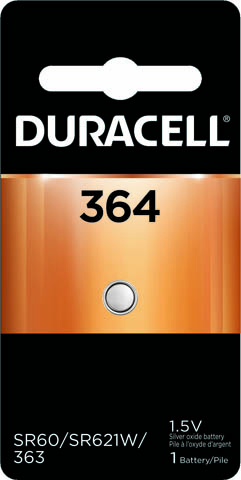 Photo of Duracell 364 Silver Oxide Button Cell, 1pk