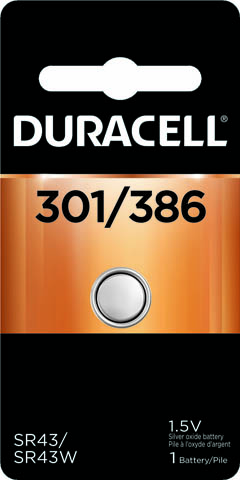 Photo of Duracell 301/386 Silver Oxide Button Cell, 1pk
