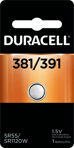 Photo of Duracell 381/391 Silver Oxide Button Cell, 1pk