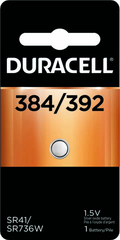 Photo of Duracell 384/392 Silver Oxide Button Cell, 1pk