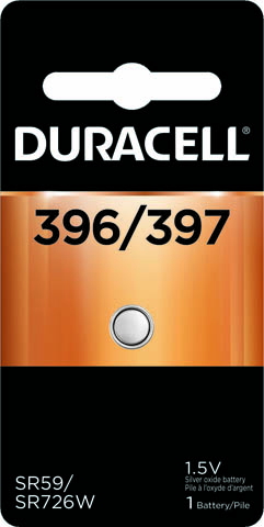 Photo of Duracell 396/397 Silver Oxide Button Cell, 1pk