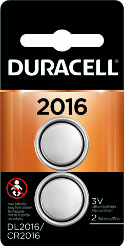 Photo of Duracell CR2016 Lithium Coin Cell, 2pk