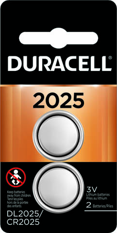 Photo of Duracell CR2025 Lithium Coin Cell, 2pk