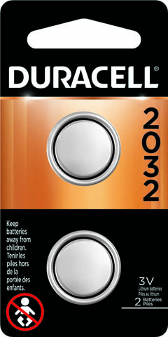 Photo of Duracell CR2032 Lithium Coin Cell, 2pk