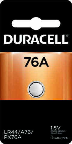 Photo of Duracell A76 Alkaline Button Cell, 1pk