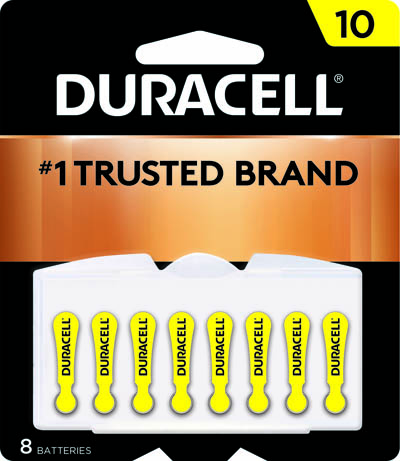 Photo of Duracell Size 10 Zinc Air Hearing Aid Battery, 8pk