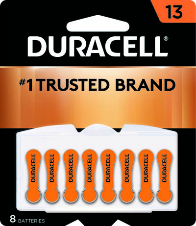 Photo of Duracell Size 13 Zinc Air Hearing Aid Battery, 8pk