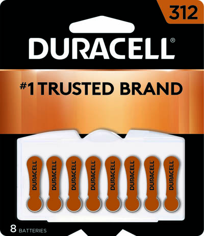 Photo of Duracell Size 312 Zinc Air Hearing Aid Battery, 8pk