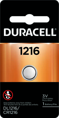 Photo of Duracell CR1216 Lithium Coin Cell, 1pk