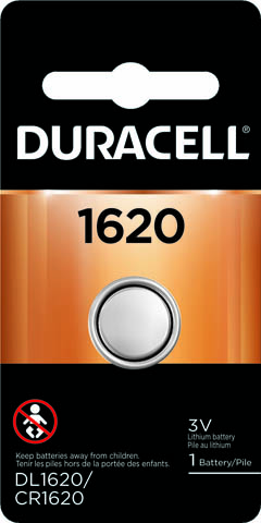 Photo of Duracell CR1620 Lithium Coin Cell, 1pk