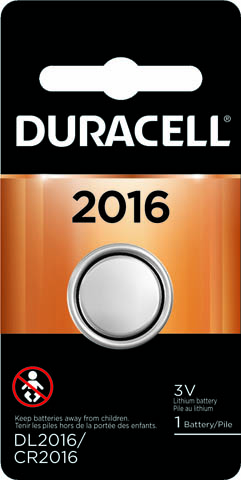 Photo of Duracell CR2016 Lithium Coin Cell, 1pk