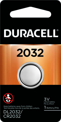 Photo of Duracell CR2032 Lithium Coin Cell, 1pk