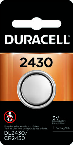 Photo of Duracell CR2430 Lithium Coin Cell, 1pk