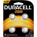 Photo of Duracell CR2016 Lithium Coin Cell, 4pk