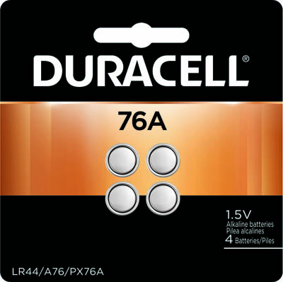 Photo of Duracell A76 Alkaline Button Cell, 4pk