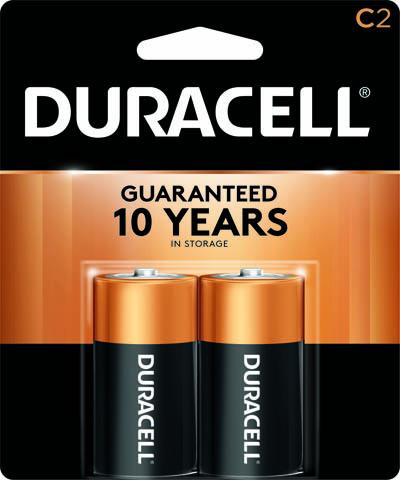 Photo of Duracell Coppertop C Alkaline Battery, 2pk