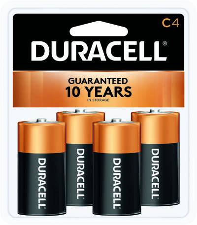 Photo of Duracell Coppertop C Alkaline Battery, 4pk