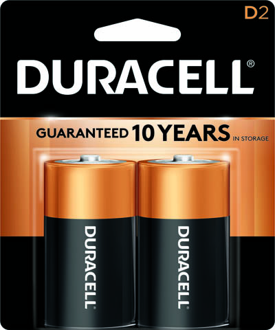 Photo of Duracell Coppertop D Alkaline Battery, 2pk