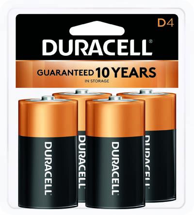Photo of Duracell Coppertop D Alkaline Battery, 4pk