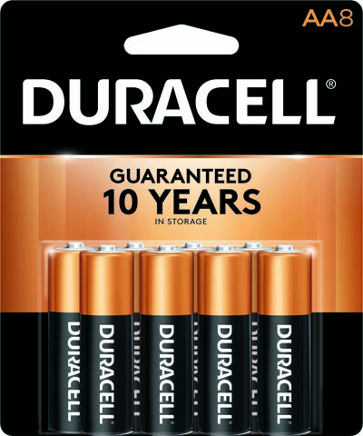 Photo of Duracell Coppertop AA Alkaline Battery, 8pk