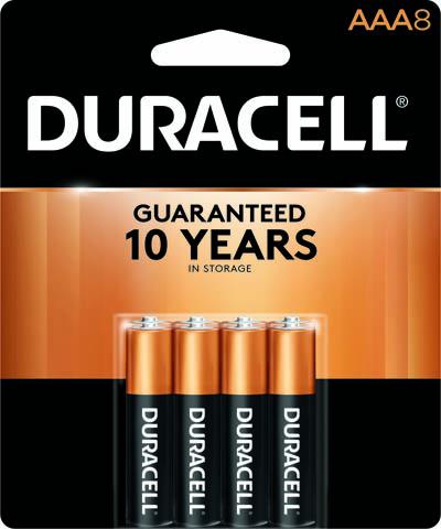 Photo of Duracell Coppertop AAA Alkaline Battery, 8pk