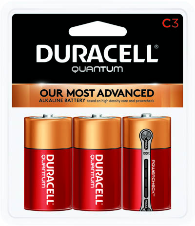 Photo of Duracell Quantum C Alkaline Battery, 3pk