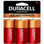 Photo of Duracell Quantum D Alkaline Battery, 3pk