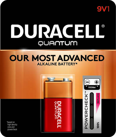 Photo of Duracell Quantum 9V Alkaline Battery, 1pk