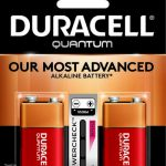 Photo of Duracell Quantum 9V Alkaline Battery, 2pk