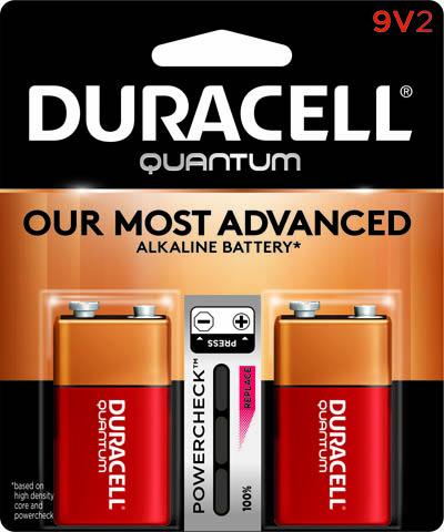 Photo of Duracell Quantum 9V Alkaline Battery, 2pk