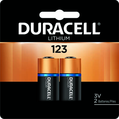 Photo of Duracell Ultra CR123 Lithium Battery, 2pk
