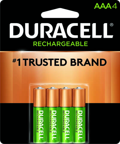 Photo of Duracell AAA NiMh Rechargeable Battery, 4pk