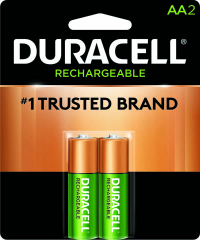 Photo of Duracell AA NiMh Rechargeable Battery, 2pk