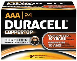 Photo of Duracell Coppertop AA Alkaline Battery, bulk
