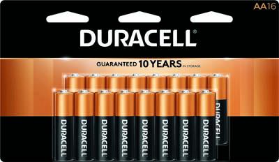 Photo of Duracell Coppertop AA Alkaline Battery, 16pk